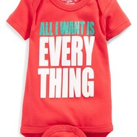 Infant Girl's Sara Kety Baby & Kids 'All I Want Is Everything' Bodysuit