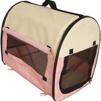 Dog Pet Kennel House Carrier Soft Crate w/ CarryCase PG