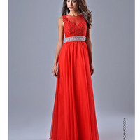 Nina Canacci 2055 Red Lace Embellished Bodice Gown 2015 Prom Dresses