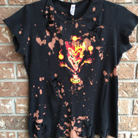 INSANE CLOWN POSSE , size large, Bleached, tie dyed, one of a kind distressed t shirt
