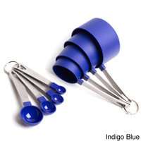 Cook's Corner 8 Piece Measuring Set-4 Measuring Cups; 4 Measuring Spoons with Stainless Steel Handles   Overstock.com