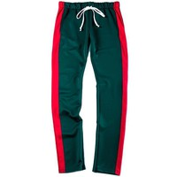 2T Green and Red Track Pants Jogger