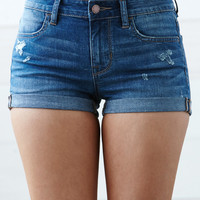 Bullhead Denim Co. Pittsburgh Blue Ripped Mid Rise Super Stretch Denim Shorts at PacSun.com