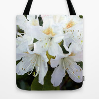 Beautiful white azalea flower photography. Tote Bag by NatureMatters