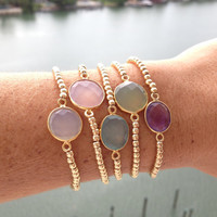Stone and Gold Beads Friendship Bracelet
