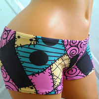 Sally Stitches inspired costume Cosplay Nightmare Before Christmas hot pants bikini
