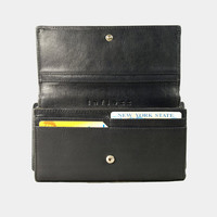Aubrey Black Envelope Leather Wallet : Leather wallet / Black Leather Purse / Leather Purse / Black wallet