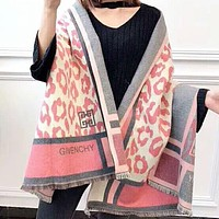 Givenchy Autumn And Winter Women New Fashion Letter Print Pattern Warm Tassel Scarf