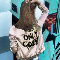 Women's Fashion Hot Sale Alphabet Print Jacket [6446619716]