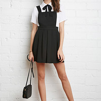 Pleated Overall Dress