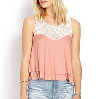Poetic Crocheted Layered Tank