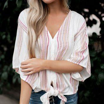 Find Your Tribe Kimono Sleeve Top