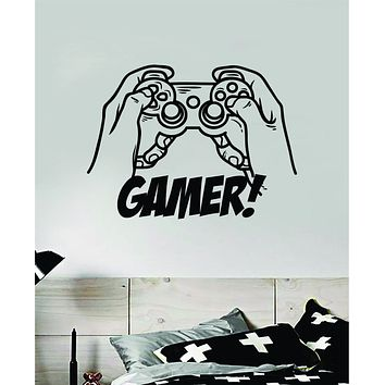 Gamer V5 Wall Decal Quote Home Room Decor Art Vinyl Sticker Funny Gaming Nerd Geek Teen Video Kids Baby Boys Xbox Ps4