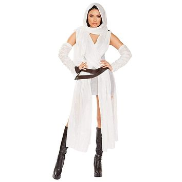 Sexy Human Scavenger Rey Crossover Mini Dress Costume