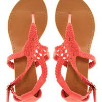 New Look Crochet Holiday Flat Sandals