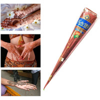 High Quality Henna Tattoo Paste Cream Cones Indian Mehndi Brown Color Henna Tattoo Paste For Body Paint