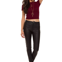 Misha Knit Top - Burgundy