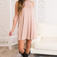 Justice Strappy Dress (Blush)