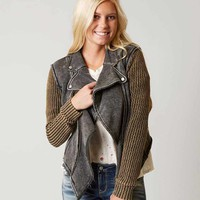 Gimmicks Pieced Sweater Jacket - Women's Coats/Jackets in Washed Black | Buckle