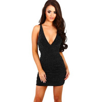 Sexy Women Slim Bodycon Sleeveless V-neck Cocktail Party Dresses Club Beach Mini Short Mini Dress vestido de festa #25 SM6