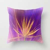 violet dream Throw Pillow by Marianna Tankelevich