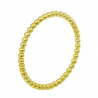 Gold Plated Sterling Silver Beaded Stackable Ring