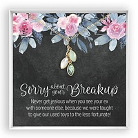 Sorry About Your Breakup  Birthstone Hearts Necklace