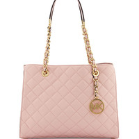 Susannah Medium Quilted Tote Bag, Blossom - MICHAEL Michael Kors