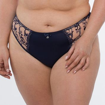 Sheer Mesh Tulle Embroidered Brief Panty Hazel