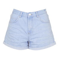 MOTO Bright Blue Rose Shorts - Light Blue