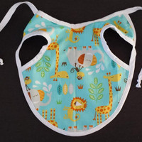 Baby Bib, Gender Neutral Bib, Stay in Place, Stay Clean, Bib Apron, Unique Baby Gift, Baby Shower Gift, Baby, Art Apron, Zoo, Jungle, Animal