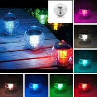 Generic Le Magic Sun Solar Power LED Color Changing Globe Light Waterproof Floating Swimming Pool Party Decor (Color Changing)