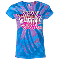Casual Wear | Blue Swirl Tie Dye Volleyball T-Shirt