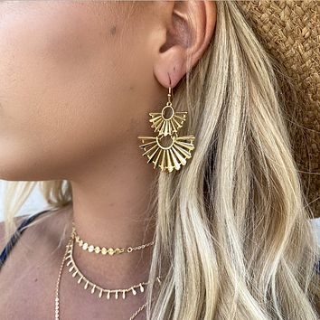 On A Mission Gold Earrings