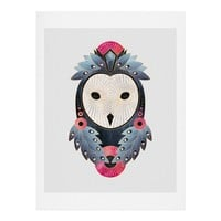 Elisabeth Fredriksson Owl Light Background Art Print