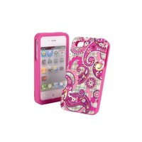 Vera Bradley Hard shell Snap-on Case Cover Paisley Meets Plaid For Apple iPhone 4S 4