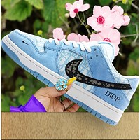 NIKE SB DUNK LOW casual shoes skateboard shoes low-top sneakers shoes blue