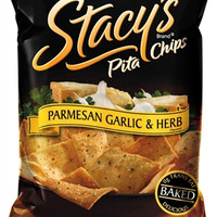Stacy's Pita Parmesan Garlic Chips 1.5 oz Bags - Pack of 24
