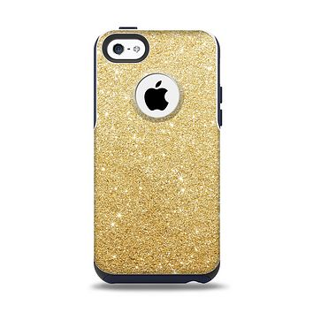 The Gold Glitter Ultra Metallic Apple iPhone 5c Otterbox Commuter Case Skin Set