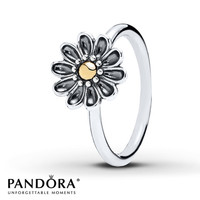Pandora Ring Oopsie Daisy Sterling Silver/14K Gold