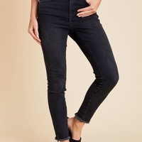 Free People Highwaisted Frayed Hem Skinny Jean