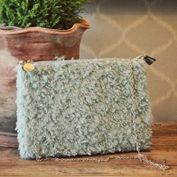 Frosted Sage Clutch
