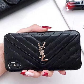 Perfect YSL Yves Saint Laurent Phone Cover Case For iphone 6 6s 6plus 6s-plus 7 7plus 8 8plus iPhone X XS XS max XR