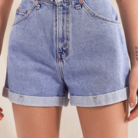 Urban Renewal Recycled Frayed Waistband Levi's Short | Urban Outfitters