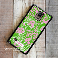 Sunny Side Cute Lion-Lilly Pulitzer Samsung Galaxy Note 4 Case Cover for Note 3 Note 2 Case
