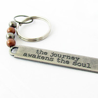 Inspirational Gift, Metal Key Chain, Gift for Dad, Men's Key Chain, Father's Day Gift, Inspirational Key Chain