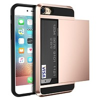 Armor Protective Card Holder Case for iPhone x and iPhones