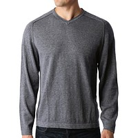 PREMIUM Mens Vintage Long Sleeve V Neck Soft Knit Pullover Sweater (CLEARANCE)