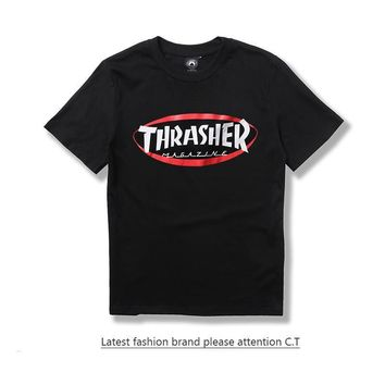 Short Sleeve Casual Couple T-shirts [211459178508]