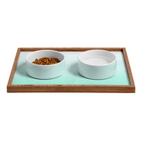 Social Proper Mint Ombre Pet Bowl and Tray